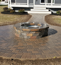 fireplace landscaping